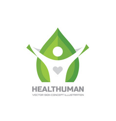 Health human - logo template in flat style vector