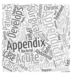 How to Detect Acute Appendicitis text background vector