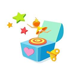 Icon music box vector