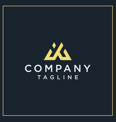 Ig or jg triangle logo vector
