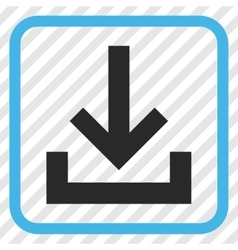 Inbox Icon In a Frame vector