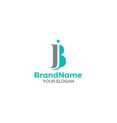 Initial j and b logo design vector