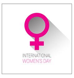 International women day background pink greeting vector