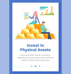 Invest in physical assets concept people with vector