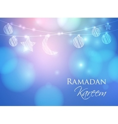 Invitation card for Muslim holy month Ramadan vector image