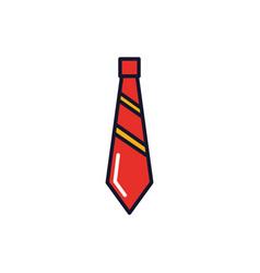 Isolated necktie icon fill design vector