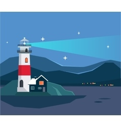 Light house seascape vector