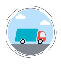 Logistics delivery transportation concept vector image