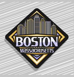 logo for boston vector image
