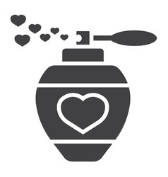 love perfume with hearts glyph icon valentines vector image