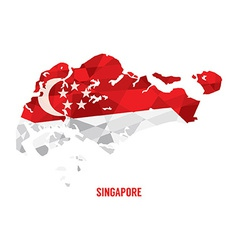 map singapore vector image