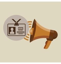 Megaphone concept tv news design vector