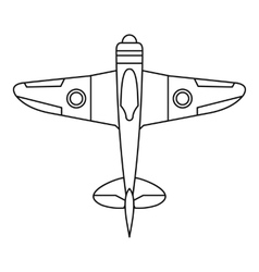 Military fighter plane icon outline style vector