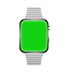 modern realistic smart watch isolated on white vector image