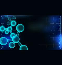 Molecule background structure healthcare vector