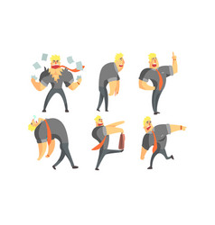 muscular businessman cartoon character in vector image