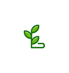 nature letter l logo icon design vector image