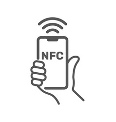 Near field communication nfc mobile phone nfc vector