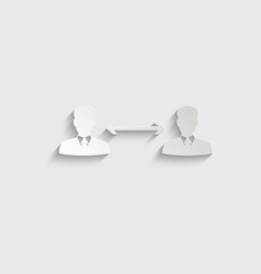 paper social distancing icon keep distance vector image