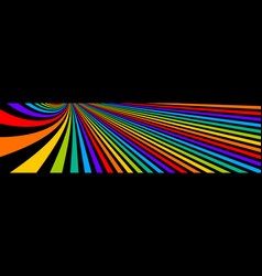Psychedelic rainbow colored optical lines insane vector