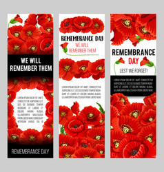 Remembrance day poppy wreath with memorail ribbon vector