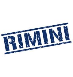 Rimini blue square stamp vector