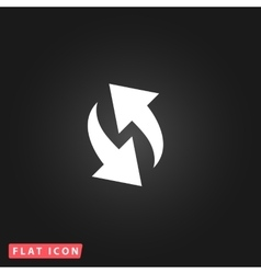 Rounded arrows flat icon vector