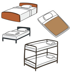 Set of bed vector