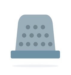 sewing thimble flat isolated vector image