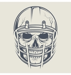 Skull in a helmet to play football vector image