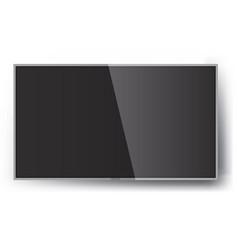 smart tv mock-up screen led hanging on vector image