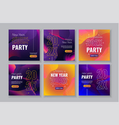 social media post templates for new year party vector image