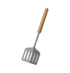 spatula kitchen and cooking utensils shadow vector image
