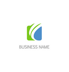 square abstract arrow wave business logo vector image