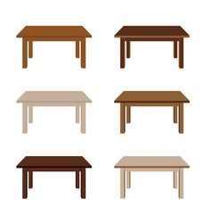 Table wooden set vector