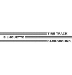 Three tire track lines vector