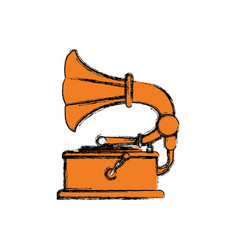vintage gramophone music device vector image vector image