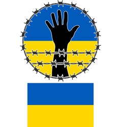 Violation human rights in ukraine vector