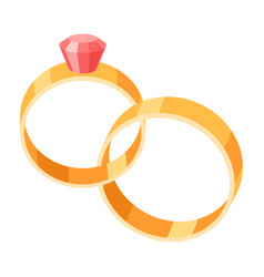 wedding bride and groom rings vector image