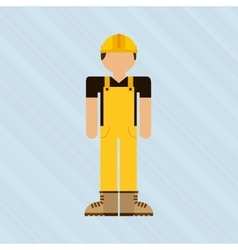 worker avatar design vector image vector image