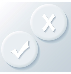 Yes No 3D Paper Icons vector