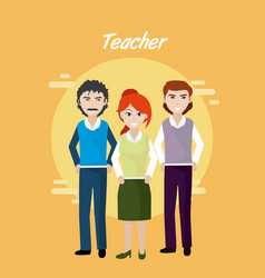 young teachers teamwork vector image