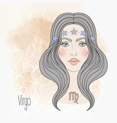 Zodiac virgo sign vector
