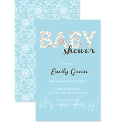 Baby shower gift card vector image vector image