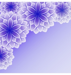 Beautiful background with violet flower vector image vector image