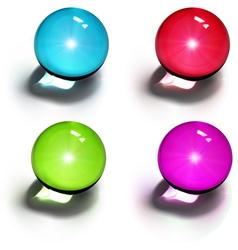 crystal balls vector image vector image