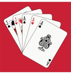 full house aces and jacks vector image vector image