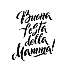 happy mother s day italian greeting card black vector image vector image