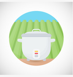 rice cooker flat icon vector image vector image