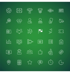 Thin Icons on the Theme of Soccer vector image